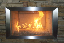 Fireplace metal surrounds